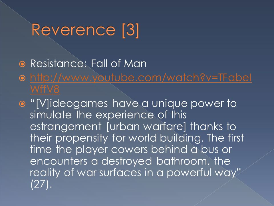 Reverence [3] Resistance: Fall of Man